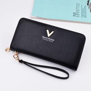 Vegan Leather Zipper Wallet
